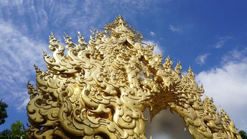 Die Kunst der Thailand-Tempel-Malerei stockbild