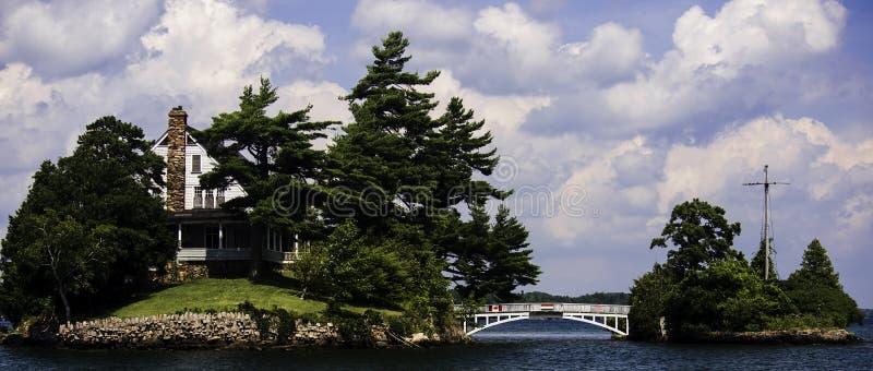 Die kurze Brücke zwischen Kanada und den USA stockfotos
