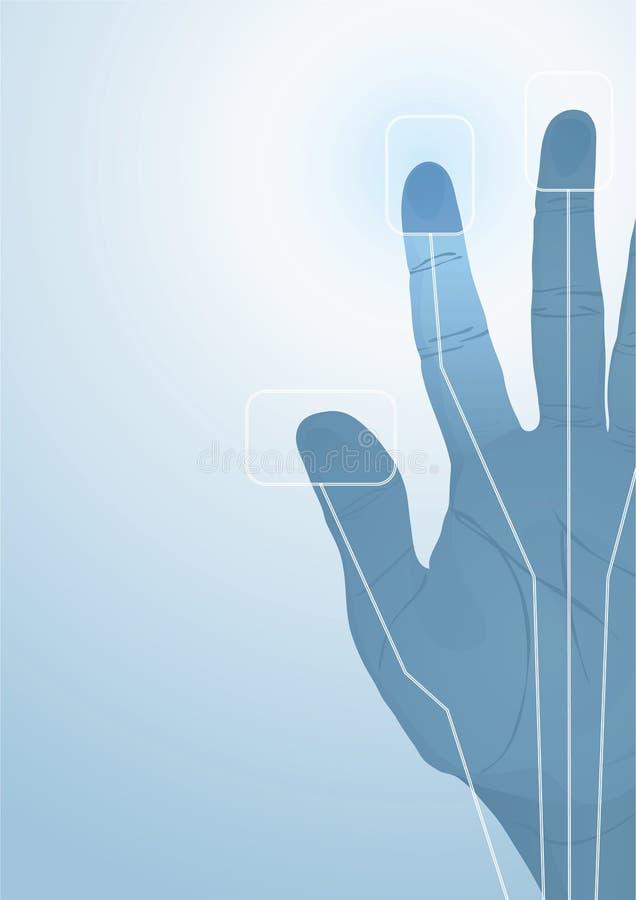 Die Kybernetikhand vektor abbildung