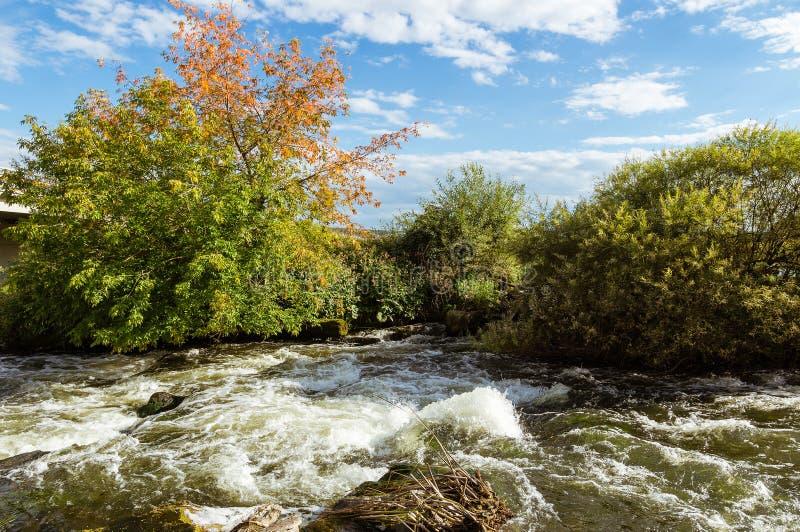 Die Landschaft auf dem Ural-Fluss, der Irtysch, stockfotos