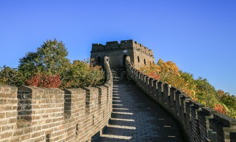 Die Landschaft der Chinesischen Mauer lizenzfreies stockbild