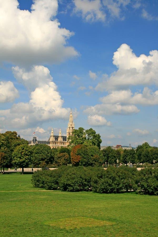 Die Landschaft der Wien-Stadt lizenzfreies stockfoto