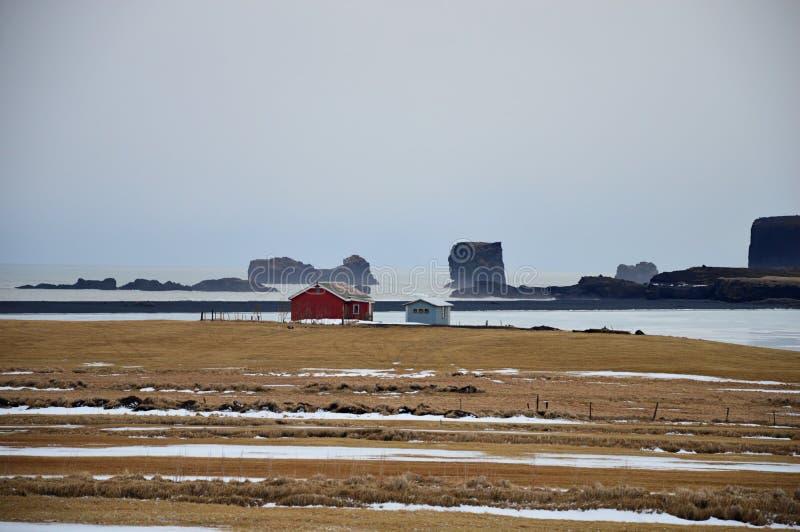 Die Landschaft in Island lizenzfreie stockfotos