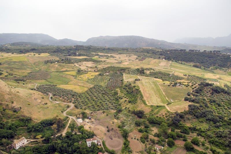 Die Landschaft vom hohen Platz in Spanien stockfoto