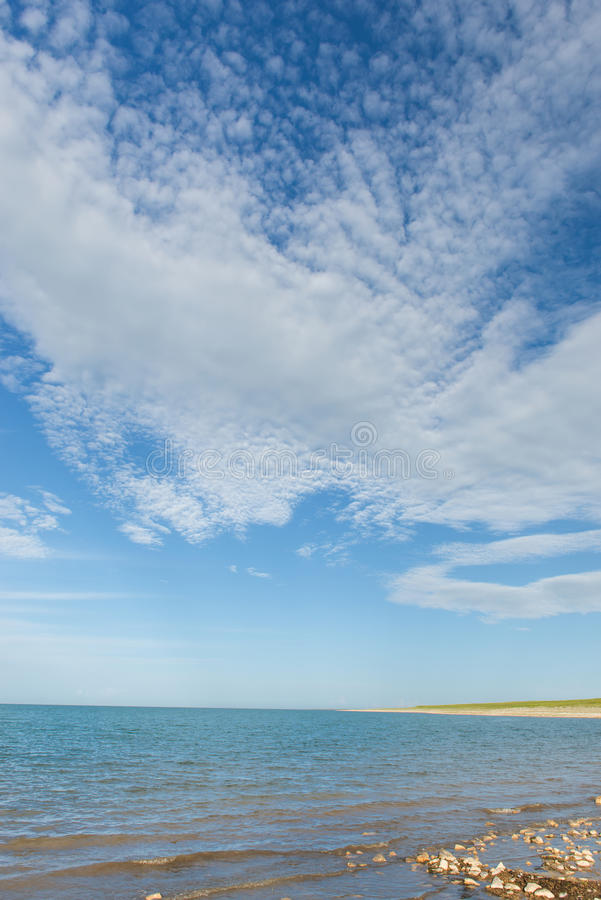 Die Landschaft von Qinghai-See lizenzfreie stockbilder