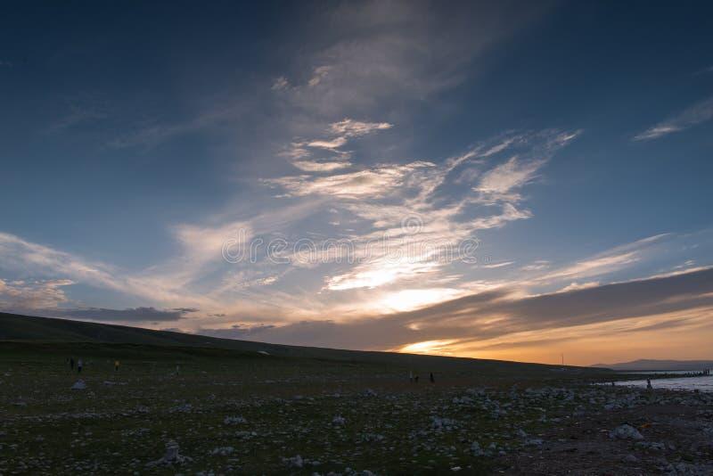 Die Landschaft von Qinghai-See stockbilder