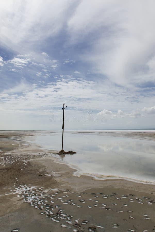 Die Landschaft von salzigem See lizenzfreie stockfotos
