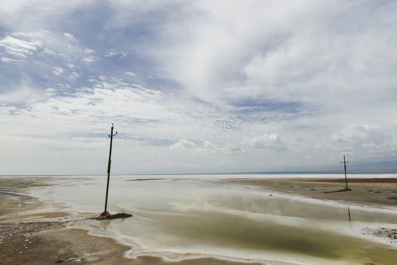 Die Landschaft von salzigem See stockfoto
