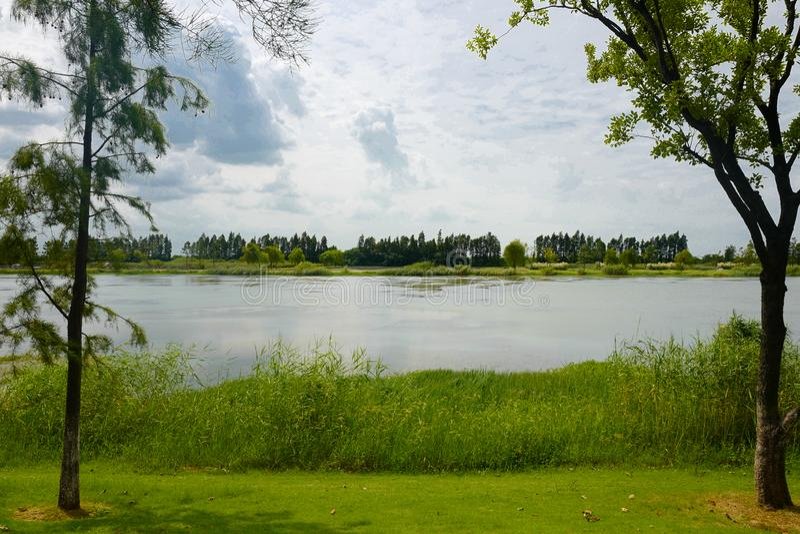 Die Landschaft von Taihu See stockbild