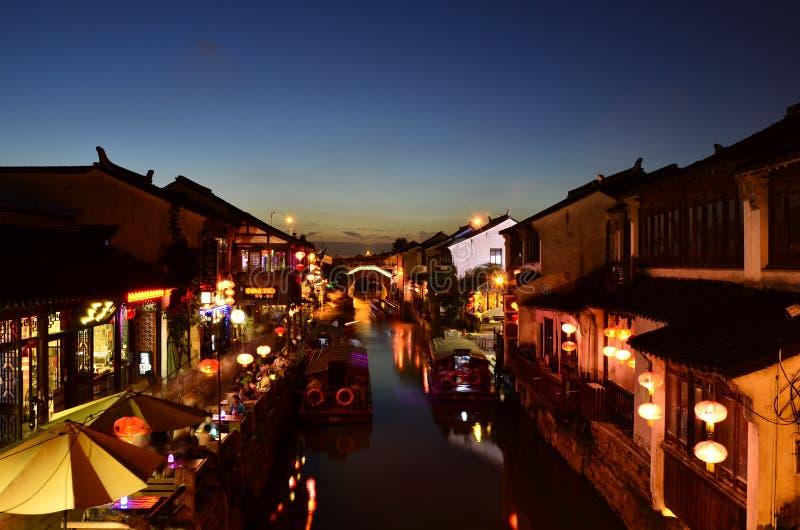 Die Landschaft von Zhouzhuang in Suzhou, China im Frühjahr lizenzfreie stockfotografie