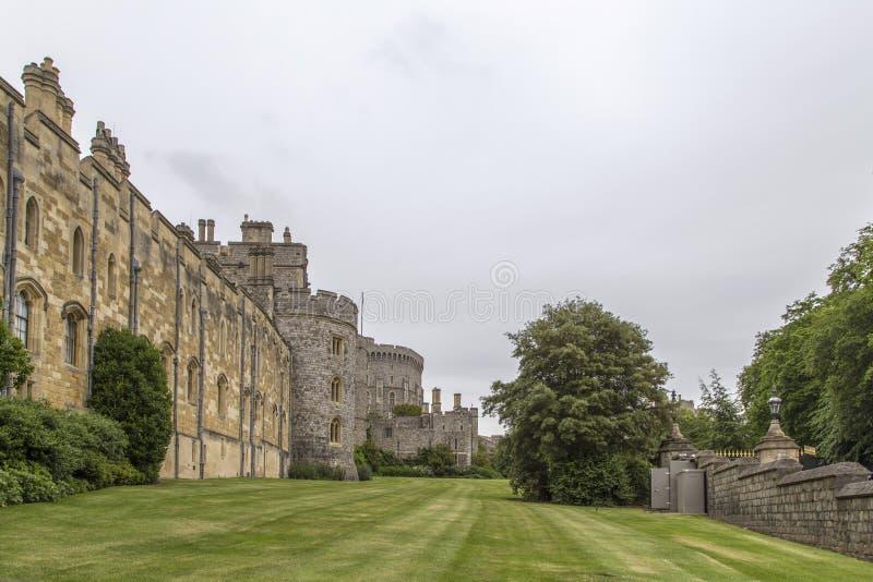 Die Landschaft in windsor Schloss, London stockfotos