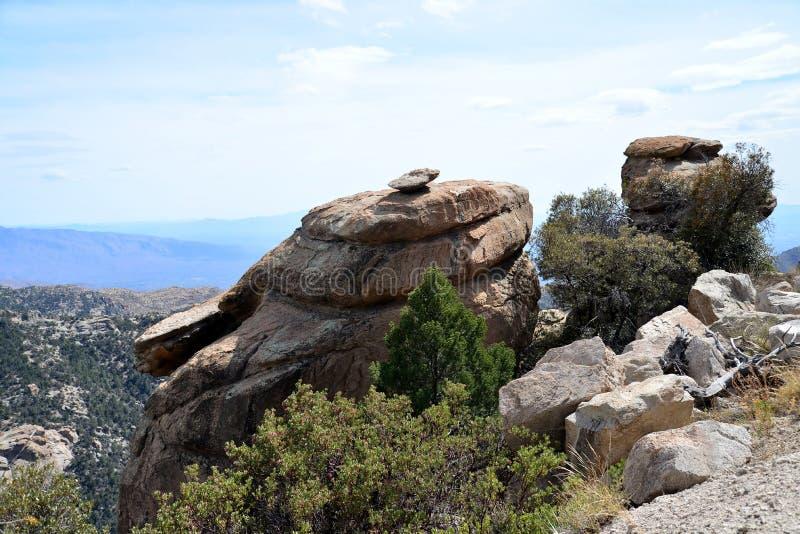 Die Landstraße zu Mt Lemmon in Arizona lizenzfreies stockbild