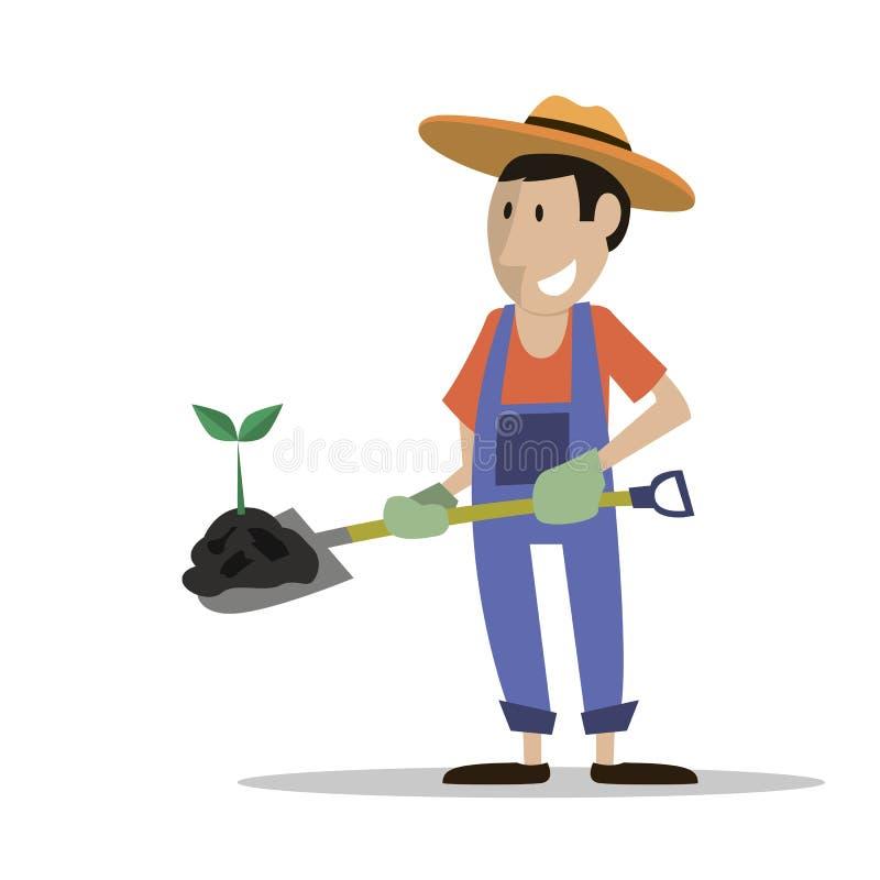 Die Landwirtmann-Düngemittelanlage lizenzfreies stockfoto