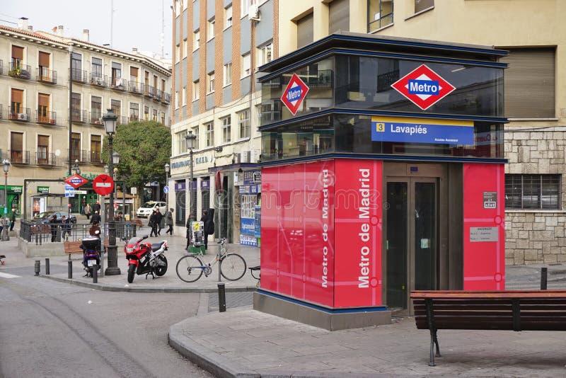 Die Lavapies-Metrostation in Madrid stockbilder