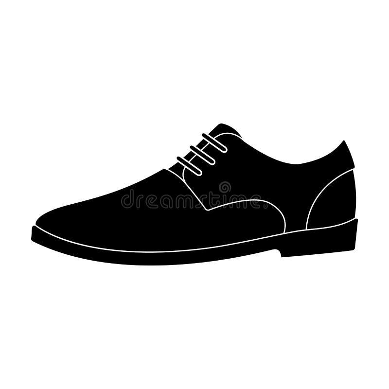 Die ledernen glänzenden Schuhe der Männer mit Spitzeen Schuhe, zum mit einem Anzug zu tragen Verschiedene Schuhe sondern Ikone im vektor abbildung