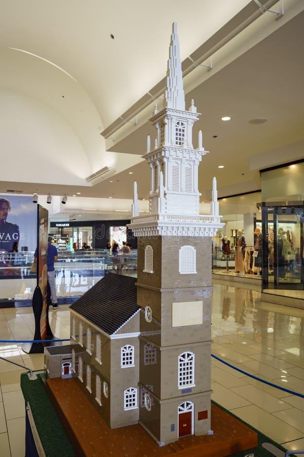Die Lego Americana-Wanderausstellung an Glendale-Galleria lizenzfreie stockfotografie