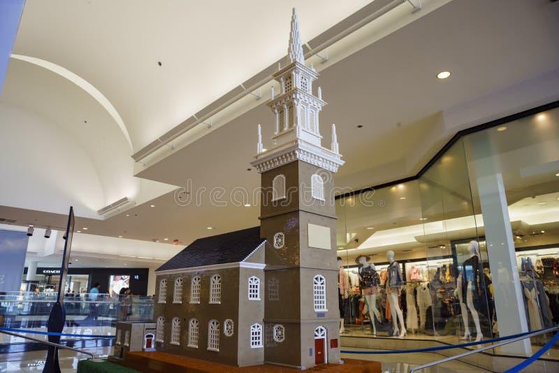 Die Lego Americana-Wanderausstellung an Glendale-Galleria stockfotos