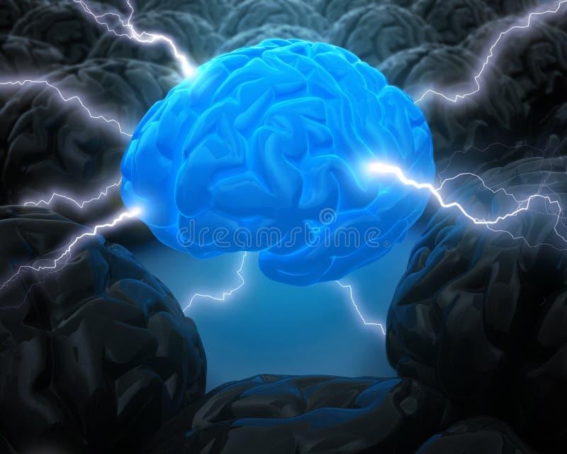 Die Leistung des Gehirns lizenzfreie abbildung