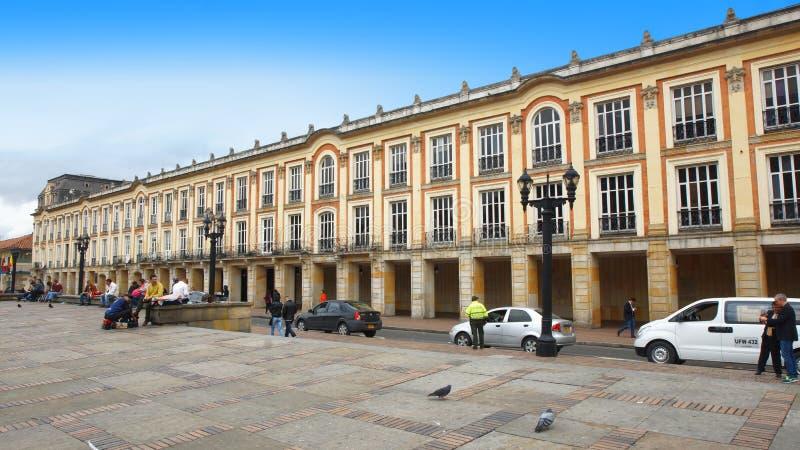 Die Lievano-Gebäudehauptsitze des Bürgermeisters in der Bolivar-Piazza im La-Candelaria-Bereich im Stadtzentrum von Bogota stockfotos