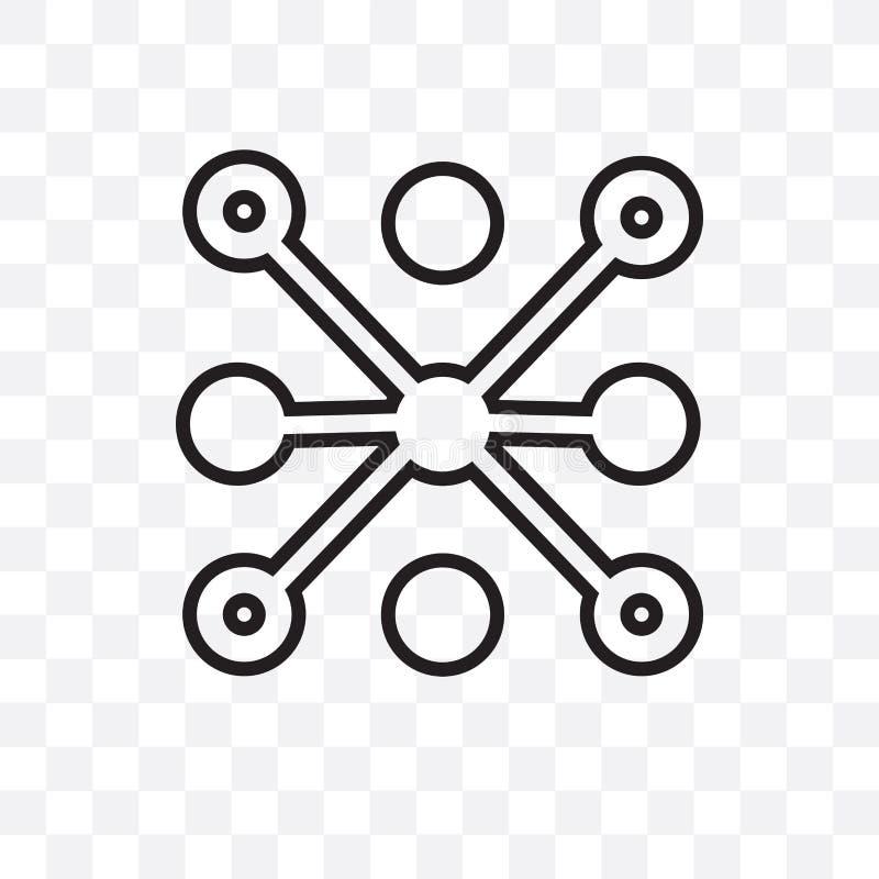 Die lineare Ikone des Daten Analyticskreisvektors, die auf transparentem Hintergrund, Daten Analyticskreistransparenzkonzept loka stock abbildung