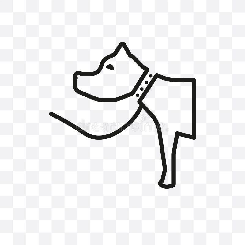 Die lineare Ikone des Plott-Jagdhund-Vektors, die auf transparentem Hintergrund, Plott-Jagdhund-Transparenzkonzept lokalisiert wi lizenzfreie abbildung
