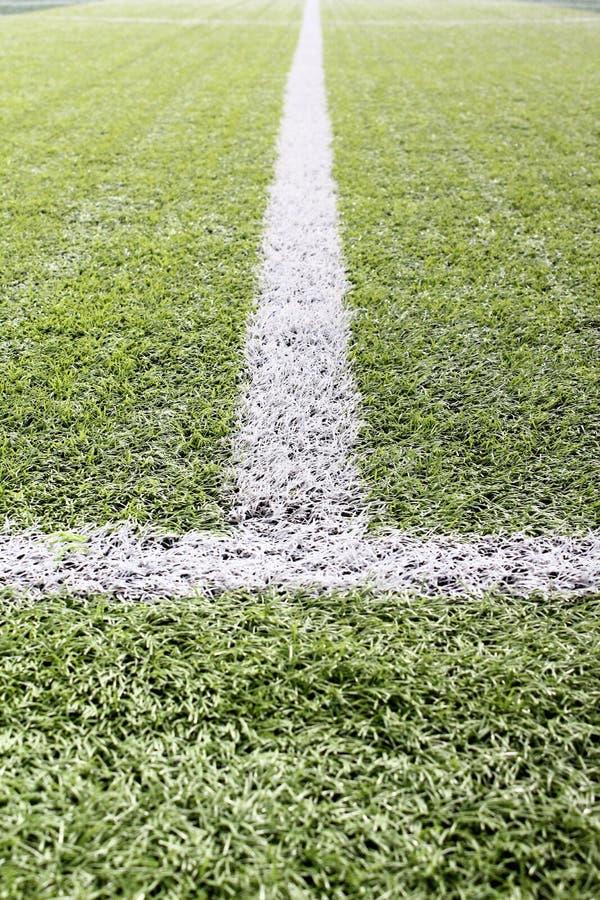 Die Linie des Fußballplatzes stockbild