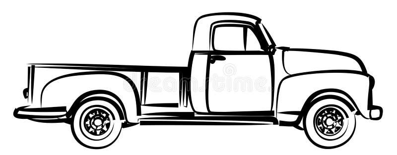 Die LKW Skizze vektor abbildung. Illustration von zeichnung - 112720738