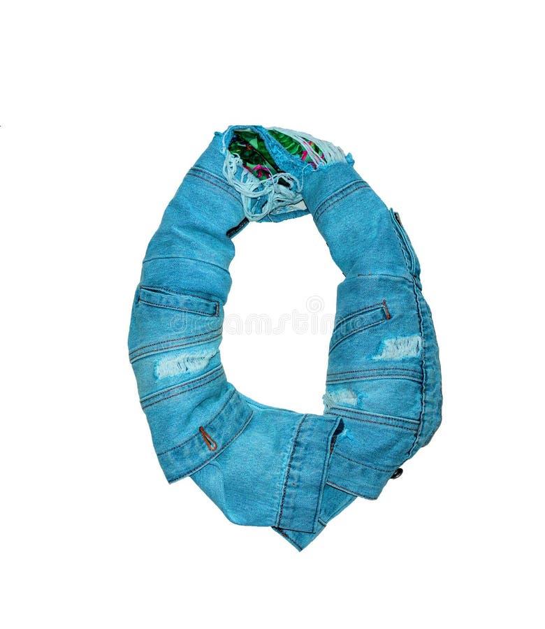 die lokalisierten Zahlen von 0 bis 10 ausgebreitet mit Jeans in den verschiedenen Farben lizenzfreie stockfotos