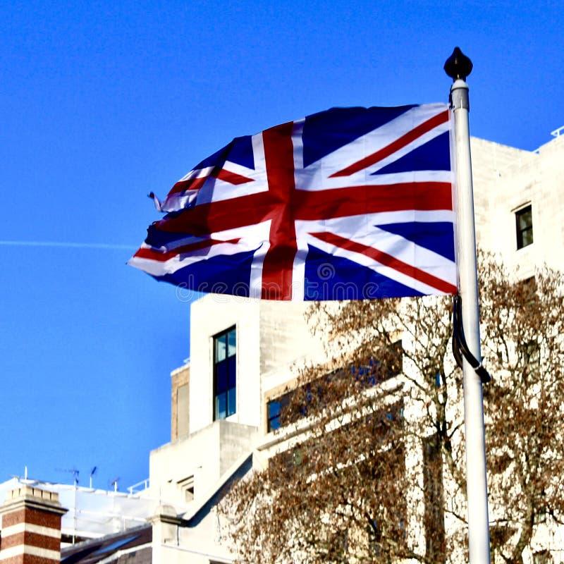 Die London-Flagge stockbild