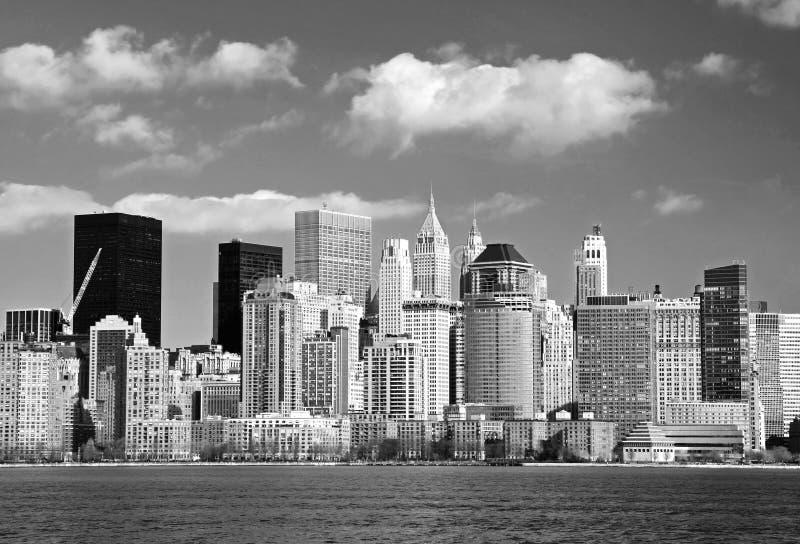 Die Lower Manhattan-Skyline lizenzfreie stockfotografie