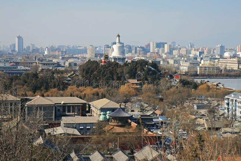 Die Luftaufnahme der Peking-Stadt lizenzfreie stockfotos