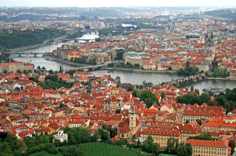 Die Luftaufnahme Der Prag-Stadt Lizenzfreie Stockfotos
