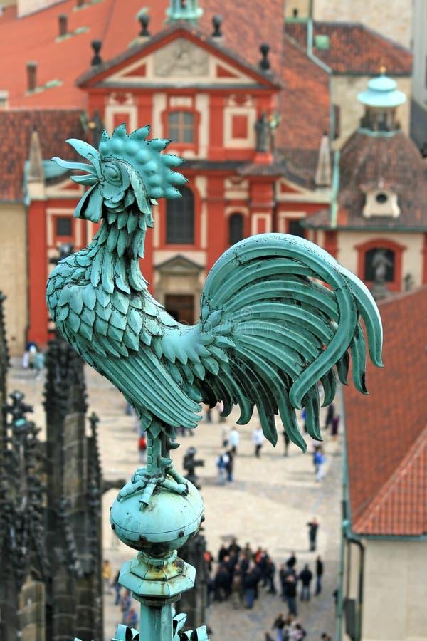 Die Luftaufnahme von Prag lizenzfreie stockfotografie