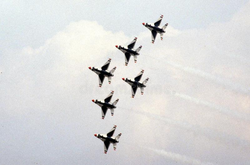 Die Luftwaffe Vereinigter Staaten Thunderbirds stockfotos