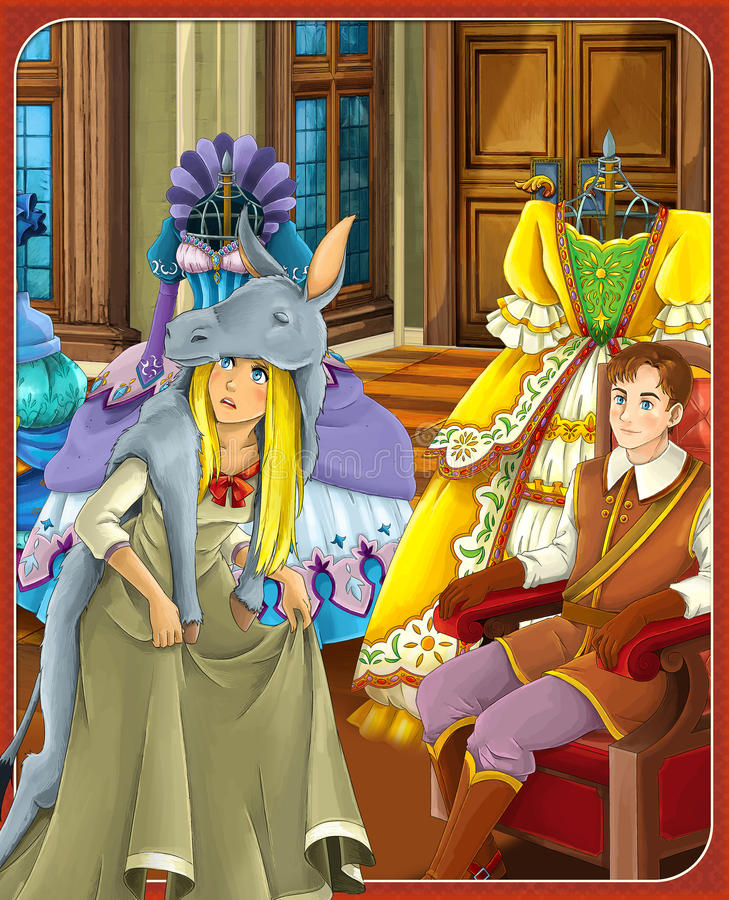 Die Märchen - schöne Manga-Art - Illustration für die Kinder lizenzfreie abbildung