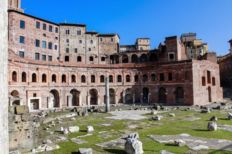 Die Märkte von Trajan in Rom stockfotografie