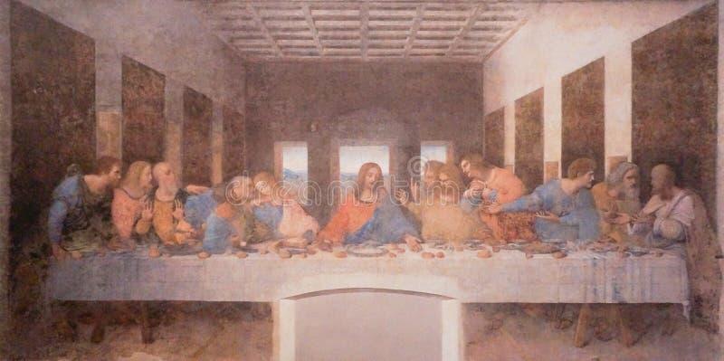 Die Malerei des letzten Abendessens lizenzfreie stockfotografie