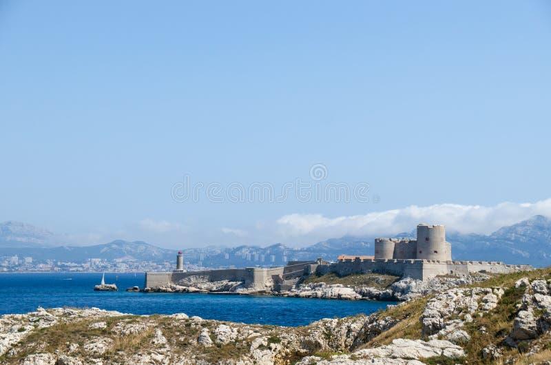 Die malerische Ansicht des berühmten Chateau d'If, Frankreich stockfotografie