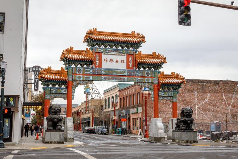 Download Die Markstein Alte Stadt Chinatown In Portland, Oregon Es Ist Liste Redaktionelles Stockbild - Bild von zieleinheit, zustände: 106800779