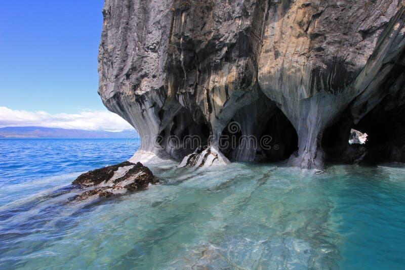 Die Marmorkathedralenkapelle, Capillas De Marmol, Puerto Tranquilo, Chile stockbild