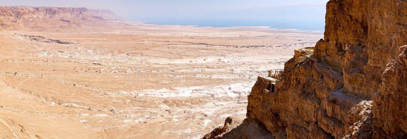 Die Masada-Ruinen stockfotos