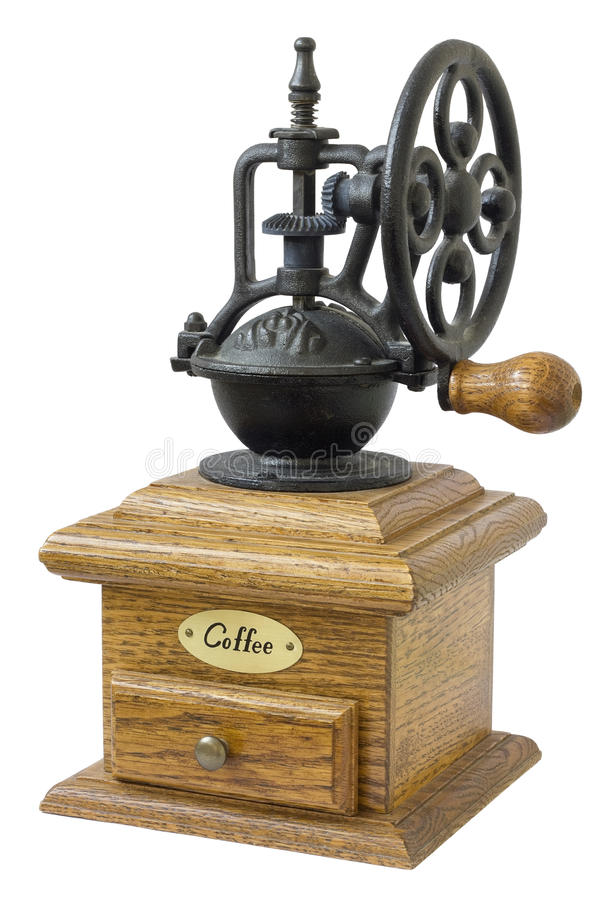Die mechanische Kaffeemühle lizenzfreie stockfotos