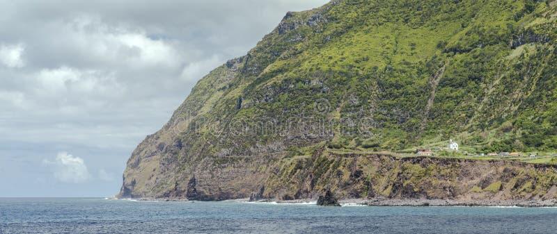 Die meiste Westkirche von Europa in Ponta DA Faja Flores, Azoren-Inseln lizenzfreie stockbilder