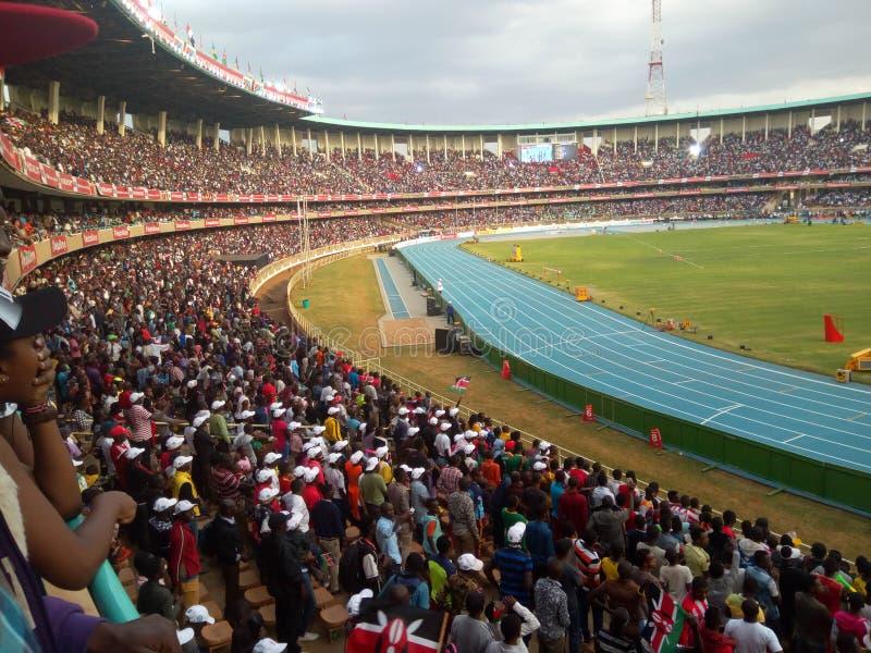 Die Meisterschaften IAAF-Weltu18 im internationalen Sportzentrum Moi, Kasarani nancy lizenzfreies stockbild