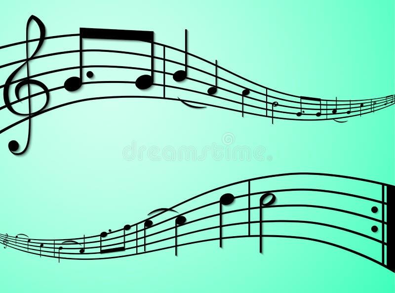 Die Melodie von alles Gute zum Geburtstag lizenzfreie abbildung