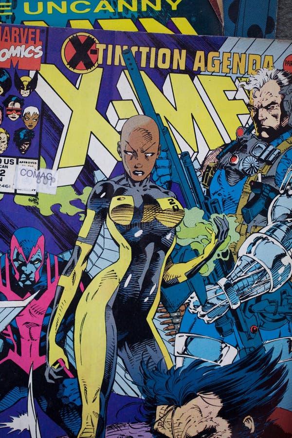 Die X-Men-Comic-Buch-Bucheinbänd veröffentlichten durch Wunder-Comics stock abbildung