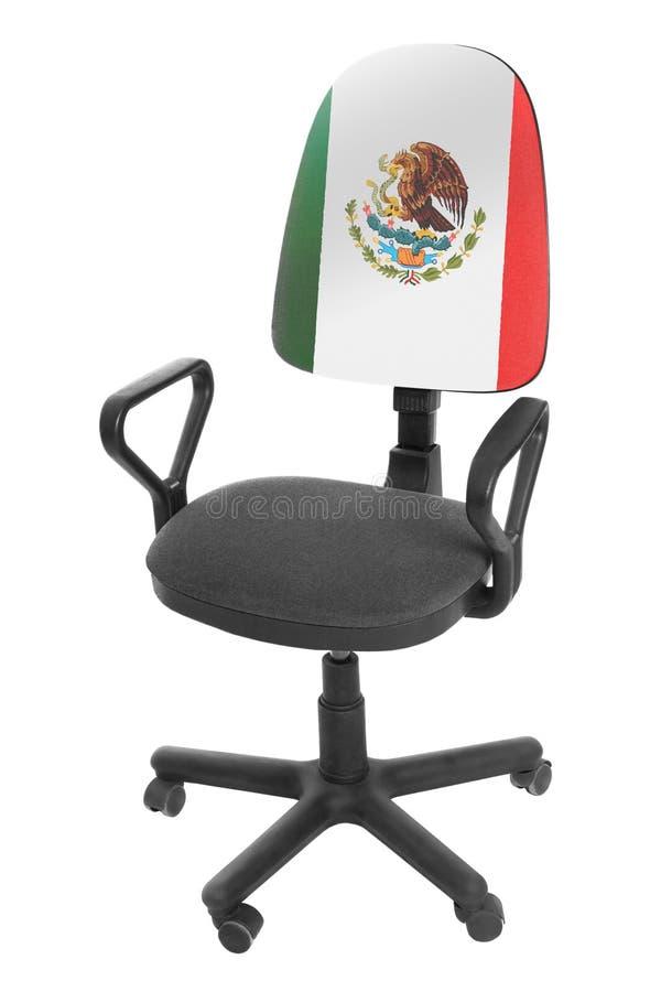 Die mexikanische Flagge lizenzfreie stockfotografie