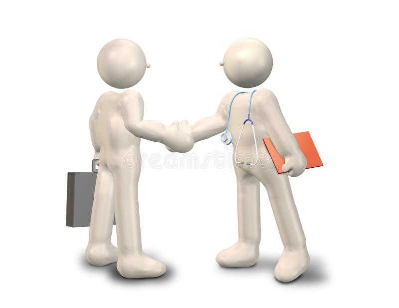 Die Mitarbeit mit medizinischer Behandlung lizenzfreie abbildung