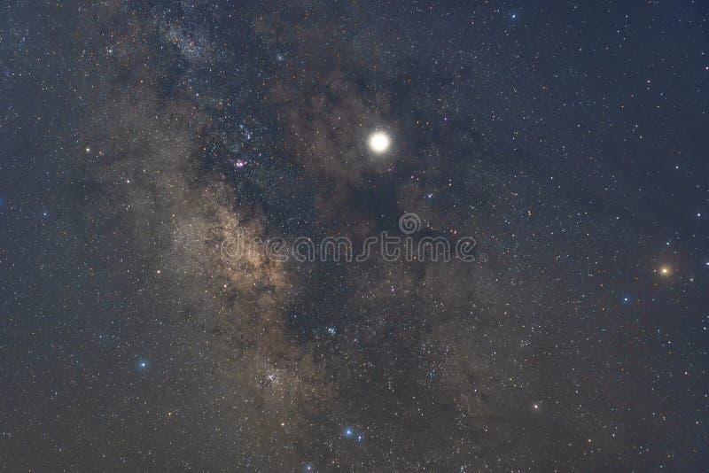 Die Mitte der Milchstraße, Unterlassungslagunen-Nebelfleck, Trifid Nebelfleck lizenzfreies stockfoto