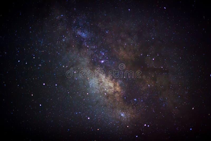 Die Mitte der Milchstraßegalaxie, lange Belichtungsphotographie lizenzfreie stockfotografie